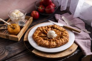 Salted Caramel Apple Galette, Apple Galette, how to make an apple galette