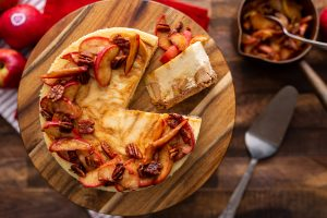 Pink Lady Toffee Apple Cheesecake